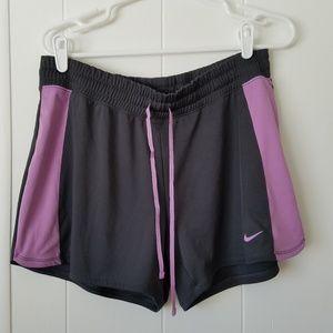 Nike | Gray & Purple | Jogging Shorts | SZ L